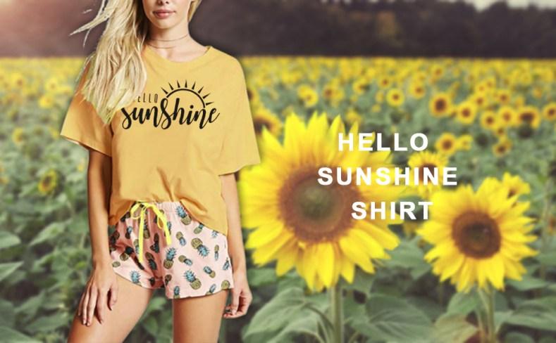 Sunshine graphic t shirt