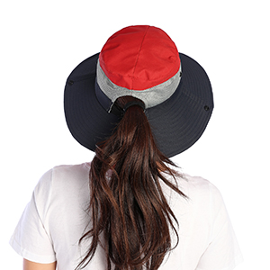 Hat with ponytail hole