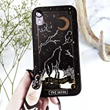 Moon Tarot Card, wicca, wiccan supplies, witchy, witch, goth, gothic, iphone, samsung, phone case