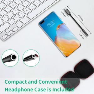 USB C Audio Jack with Portable Earphone Case