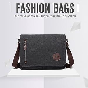Kono Canvas Laptop Messenger Bags