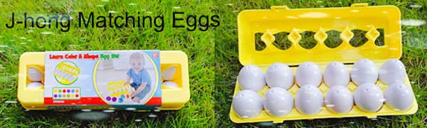 Matching Eggs - Educational Color & Recognition Skills Study Toys, for Learn Color & Shape.