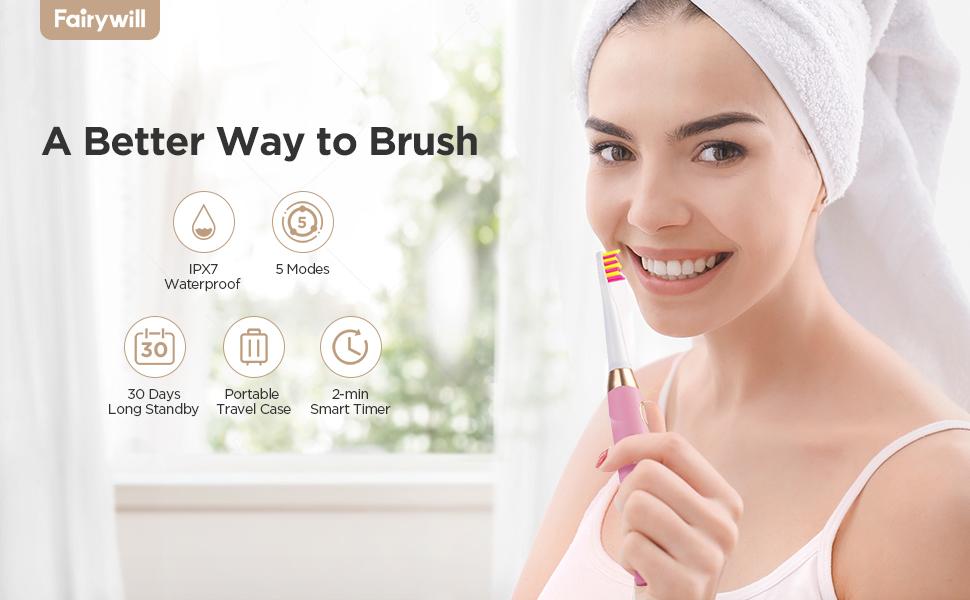 gençler, çocuklar ve yetişkinler için elektrikli diş fırçası