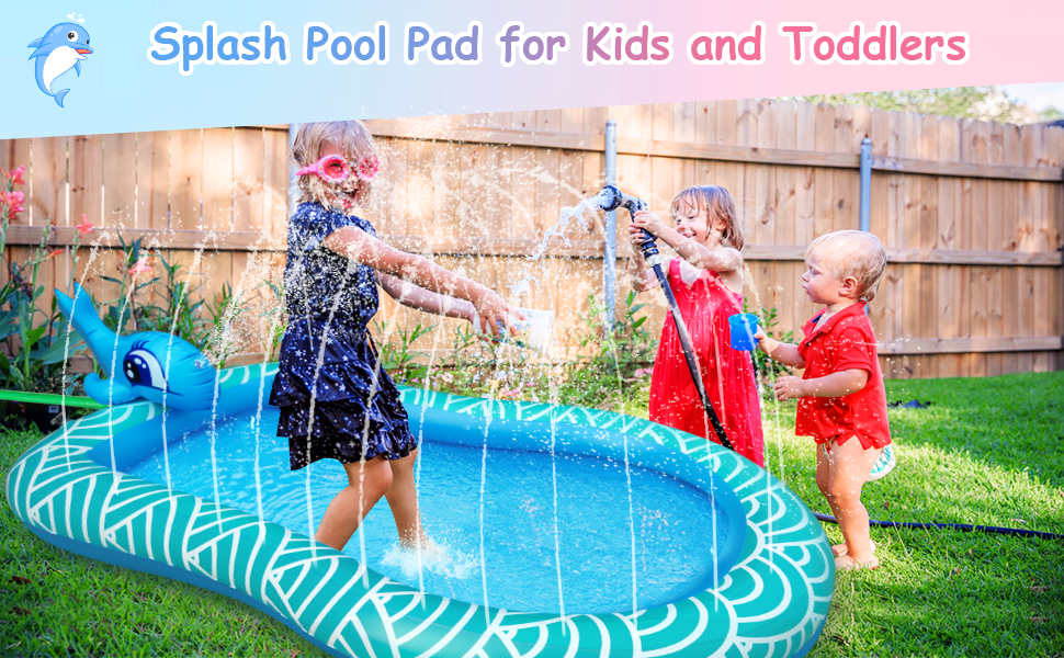 inflatable sprinkler pool for kiddie splash pad for toddlers outdoor water toys for 2 year old boys