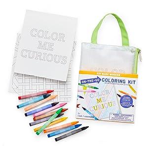 coloring kit crayons drawing book  arts and crafts kit box