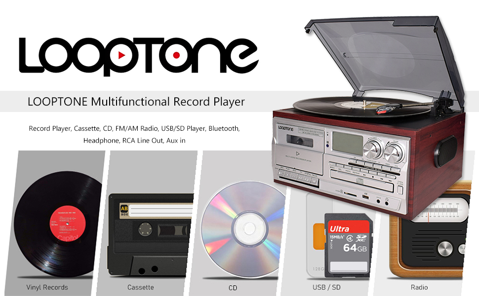 9 in 1 record player