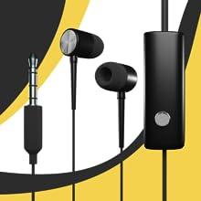 earphones headphones microphone stereo speaker input controls 3.5 mm jack clear base sound
