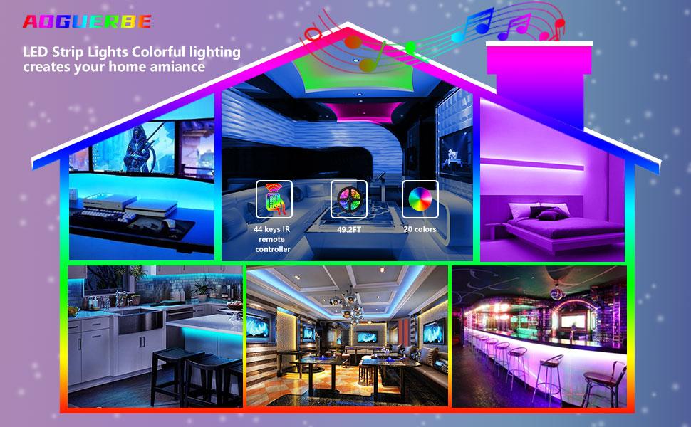 AOGUERBE led strip lights
