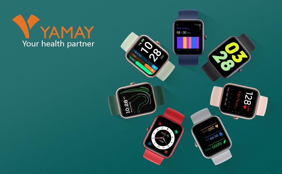 Android iPhone Samsung 2021 Watch Men Women Alexa Built-in Blood Oxygen Heart Rate 5ATM Waterproof