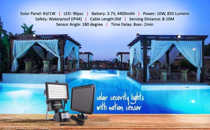 solar lights for home outdoor garden waterproof led with motion sensor hardoll security lighting