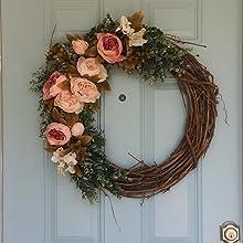 artificial peony flowers silk fake peonies for door wreath decoration