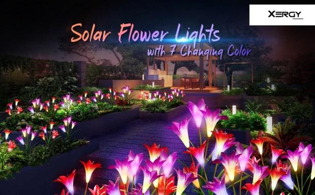 solar lily flower light