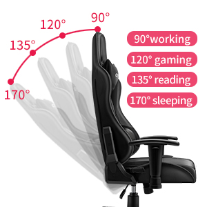 CRYfog Gaming Chair:Adjustable Reclining Function