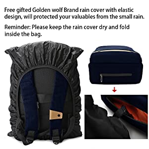 f3e0b57f af15 4931 a518 b7eb43fbb1ad.  CR0,0,1000,1000 PT0 SX300 V1    - Hoteon Golden Wolf Laptop Backpack with Rain Cover, Anti-Theft Locker, fits up to 15.6 inches Laptop, USB Port, Earphone Port, Water Resistant, Business and Travel Bag for Men & Women (Dark Grey)