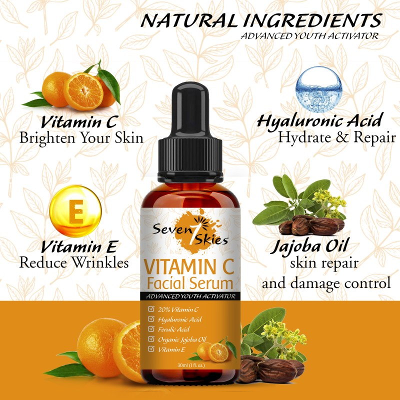 f65a0db4 034a 4dd6 99ad 750246cf4e9a.  - Seven Skies Vitamin C Serum For Face And Skin Rejuvenation With Hyaluronic Acid Vitamin C And Vitamin E - Natural Anti Aging & Wrinkle Facial Serum 30ml (1 fl. Oz.)