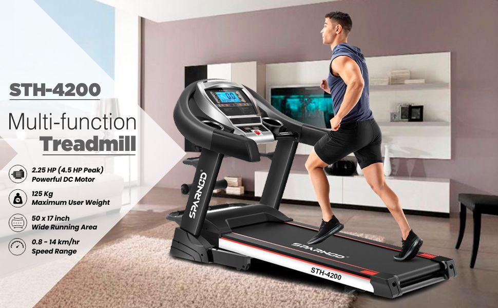 SPARNOD FITNESS Automatic 4.5HP treadmill