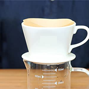 Reusable Brewing Coffee Cone for Home Cafe Restaurants Office, White