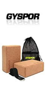 cork yoga blocks 2 pack with strap