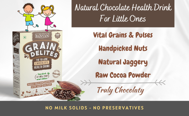 GrainDelites Chocolate health drink sathu maavu Classiq organic