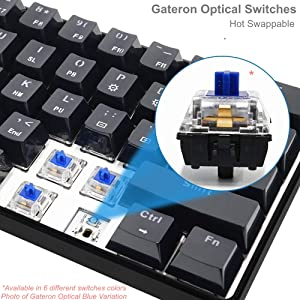 Hot Swappable Gateron Optical Switches
