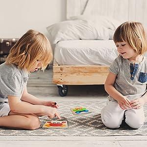 sensoriale alfabeto coulisse giocattoli regali puzzle vestito magnetico età piano legno
