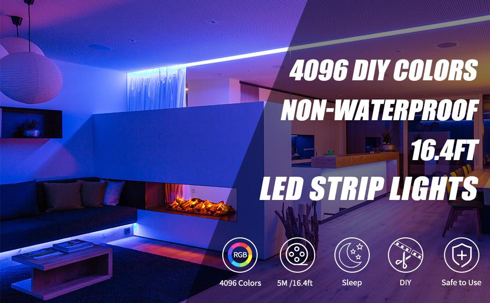 16.4ft led strip lights