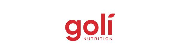 Goli营养标志红色白色背景上