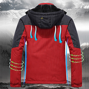 slim fit jacket men hiking windproof