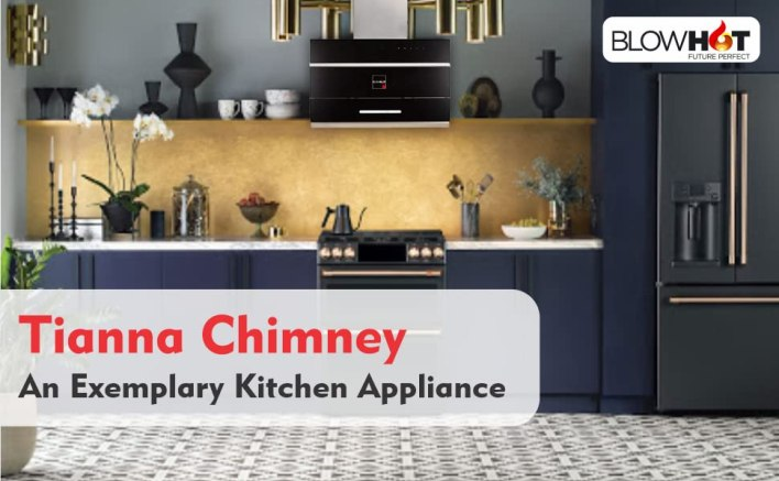 B08B1MD9QK- BLOWHOT Tianna Chimney 90 cms 1,300 m3/h suction Auto open Chimney- SPN FOR-1