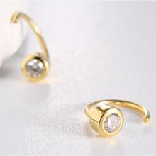 Huggie Hoop Earring 925 Sterling Silver White CZ Huggie Hoop Earrings for Women