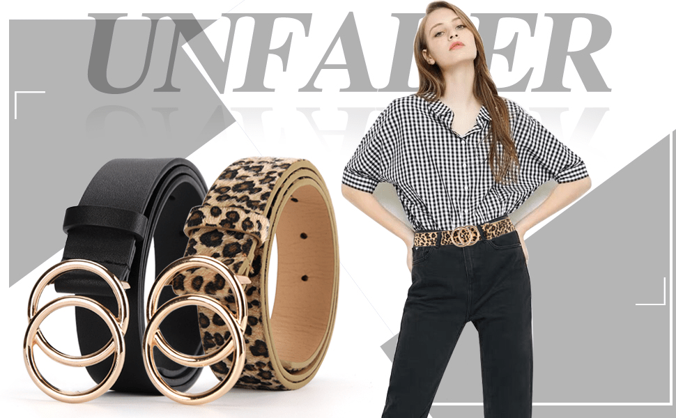 women golden o ring oo 00 buckle belts for jeans dress pants designer fashion s m l 1x 2x size