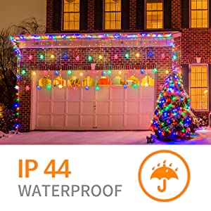 Christmas Lights Outdoor with Color Changing 360 LED Icicle Curtain String Light Fairy for Indoor