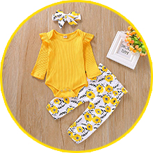 yellow outfit for baby