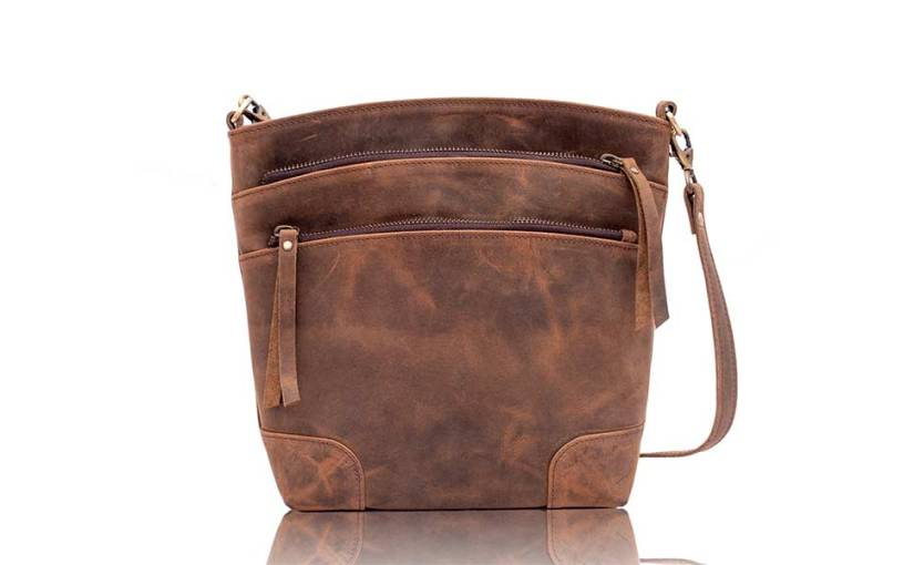 Leather Crossbody Bag for women purse tote ladies bags satchel travel tote shoulder bag by KPL