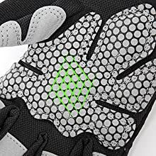Silicon Padding on the Palms for Anti-Slip Stability and Max Comfort