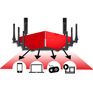 D-Link AC5300 Ultra Wi-Fi HD Streaming and Gaming Router, Red - DIR-895L