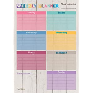 e9bf8bb6 65cb 4e23 8b35 9c3fef7b8769. SR300,300  - Collins A4 Unique Layout Weekly Planner Pad (Pack of 60 Sheets)