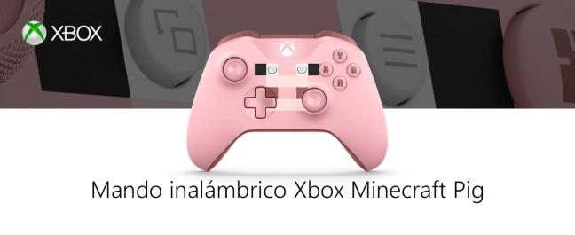 Mando inalámbrico Xbox Mincraft Pig