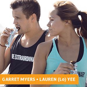 Garret Myers, Lauren Yee, Lo, Garden of Life, Organic Fit Bars