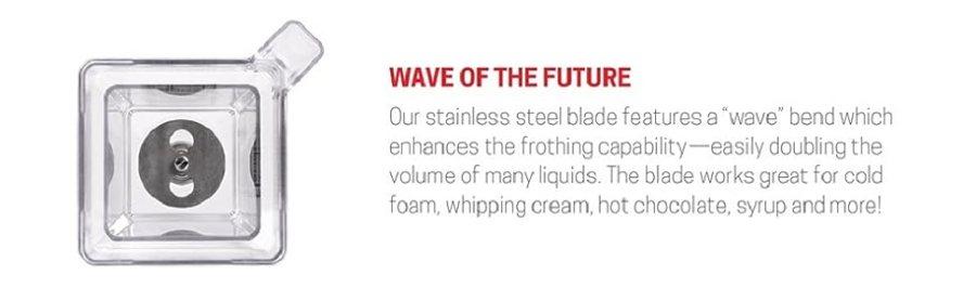 Lâmina de aço inoxidável apresenta uma curva de onda