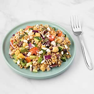 Greek Farro Feta Salad