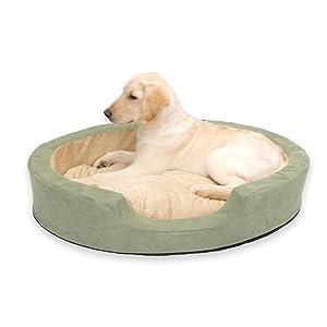 Warming dog bed