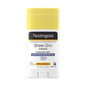 Neutrogena Sheer Zinc Oxide Dry Touch Mineral Sunscreen Stick with Broad Spectrum SPF 50