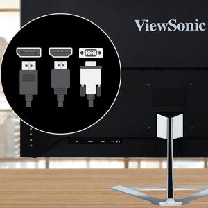 ViewSonic VX3276-MHD Connectors