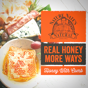 Nature Nate's 100% Pure Honey, unfiltered pasteurized organic honeycomb