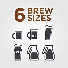 6 Brew Sizes