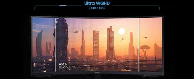 Ultra WQHD vs WQHD side-by-side comparison