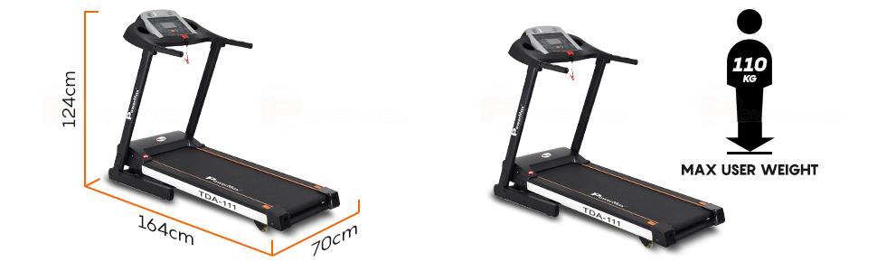 PowerMax Fitness (2.0HP) Motorized Foldable, Electric Treadmill (TDA/TDM-111)
