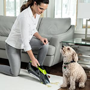 Portable Carpet Cleaner, spot and stain remover, carpet shampooer, deep carpet cleaner, cordless vac