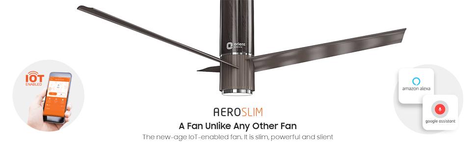 Orient Electric Aeroslim IoT enabled smart 1200mm ceiling fan